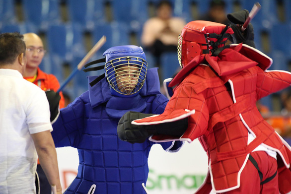 Không thắng trận nào, VĐV võ gậy vẫn giành huy chương SEA Games - Ảnh 2.
