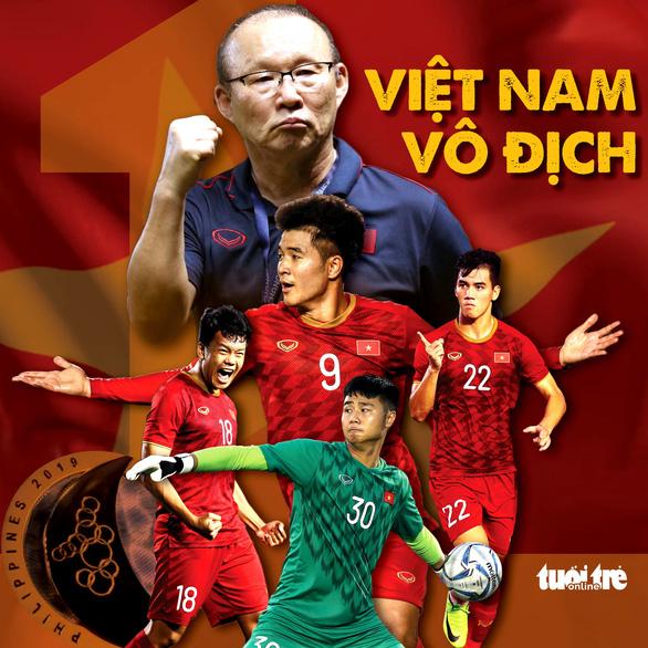 60 năm chờ đợi phút giây này: Bóng đá Việt Nam vô địch SEA Games! - Ảnh 1.