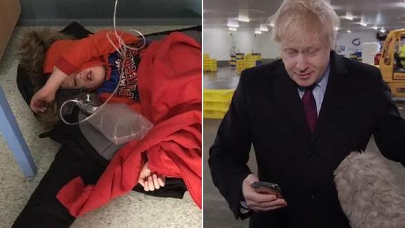 Bệnh nhân nhí không có giường nằm làm thủ tướng Anh méo mặt - Ảnh 1.