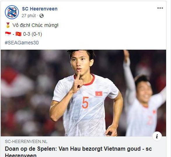 CLB Heerenveen của Đoàn Văn Hậu: Chúc mừng Việt Nam vô địch - Ảnh 1.