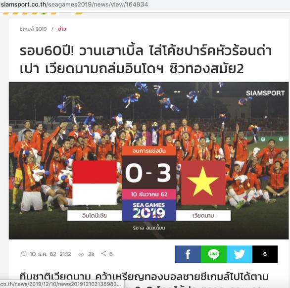 Báo Thái Lan: Đội mạnh nhất SEA Games đã giành huy chương vàng - Ảnh 1.