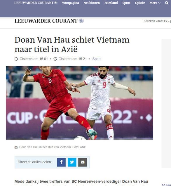 Báo Hà Lan: Văn Hậu nên được ra sân ở Giải vô địch Hà Lan - Ảnh 1.