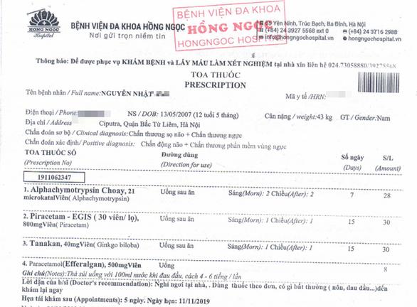 Bé 12 tuổi nghi bị hàng xóm ở khu đô thị Ciputra hành hung chấn động não - Ảnh 1.