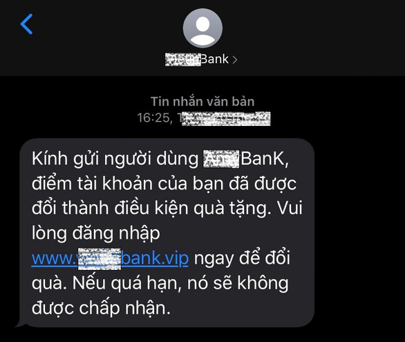 Giả tin nhắn thương hiệu, lừa lấy tiền trong tài khoản người dân - Ảnh 2.