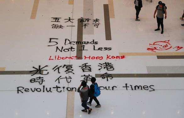 Người biểu tình phá rối ngày mua sắm ở Hong Kong - Ảnh 3.