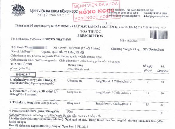 Đề nghị khởi tố vụ bé trai 12 tuổi ở khu đô thị Ciputra bị hàng xóm đánh chấn động não - Ảnh 2.