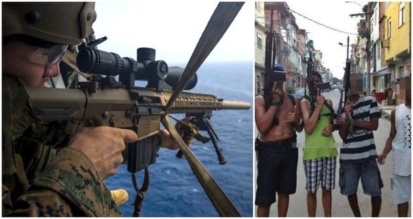 Khiếp với lính bắn tỉa từ trực thăng ở Brazil - Ảnh 3.