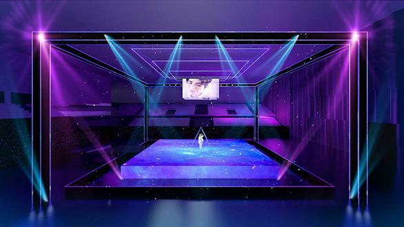Vũ Cát Tường té sấp mặt từ sân khấu 2m xuống đất trong live show - Ảnh 2.