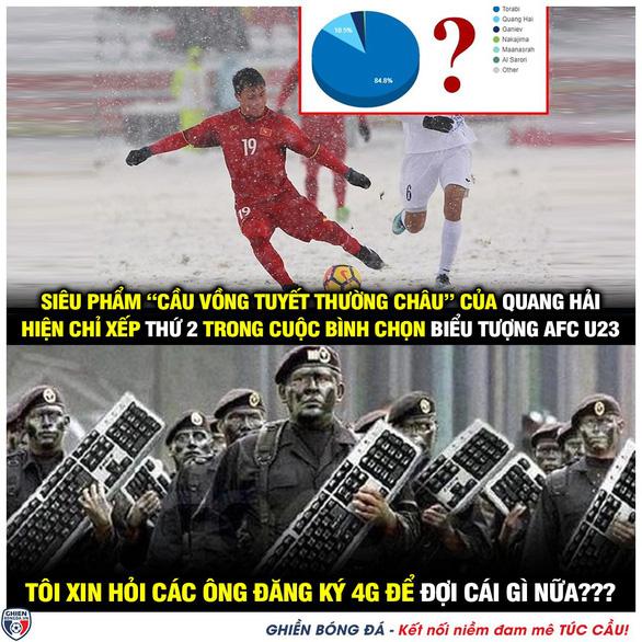 Cộng đồng mạng kêu gọi, Quang Hải dẫn đầu bàn thắng biểu tượng U23 châu Á - Ảnh 4.