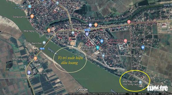 Ngăn chặn kịp thời vệt dầu loang trên sông Lam để cấp nước sạch cho TP Vinh - Ảnh 3.