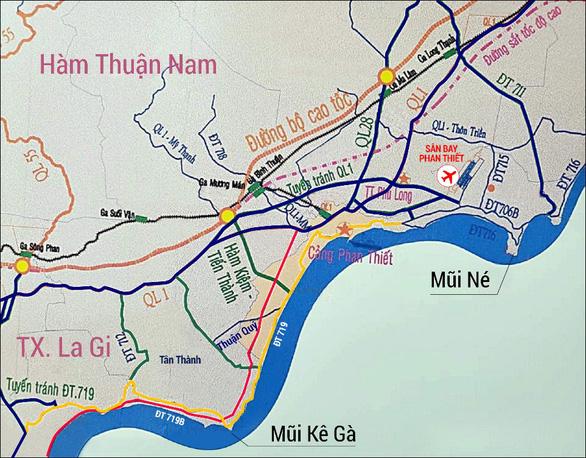 Bình Thuận xây dựng hàng loạt đường nối cao tốc Phan Thiết - Dầu Giây về hướng biển - Ảnh 2.