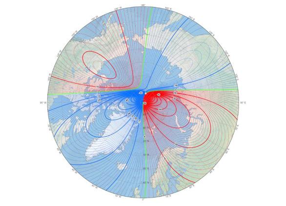 Khoa học đau đầu vì cực từ phía Bắc Trái đất di chuyển nhanh đến Nga - Ảnh 1.