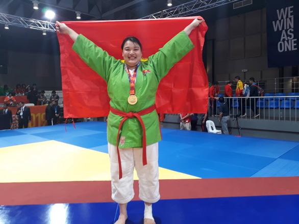 Nữ võ sĩ kurash Thanh Thủy phải tăng gần 20kg để giành HCV SEA Games 30 - Ảnh 1.