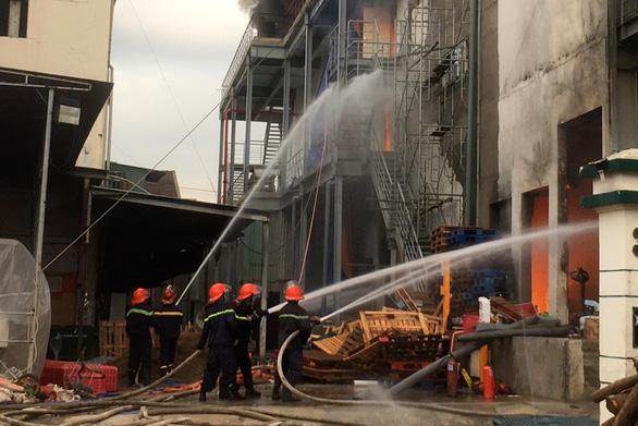 Khói lửa cuồn cuộn ở công ty sản xuất bánh kẹo trong KCN Sóng Thần - Ảnh 3.