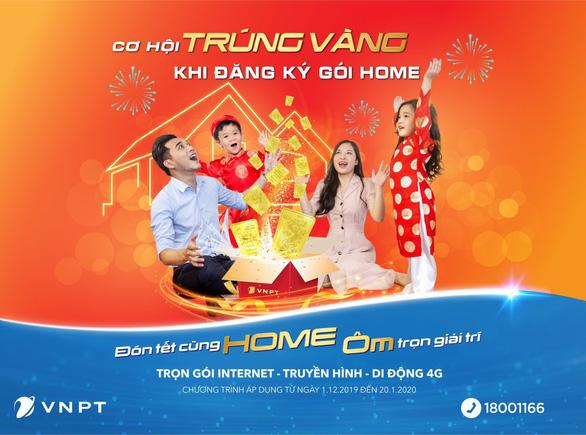 Trúng vàng SJC 9999 khi đăng ký Internet, truyền hình VNPT dịp Tết - Ảnh 1.