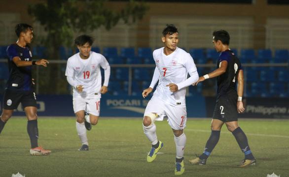 Thắng ngược Campuchia, U22 Myanmar là đội đầu tiên vào bán kết SEA Games 2019 - Ảnh 1.