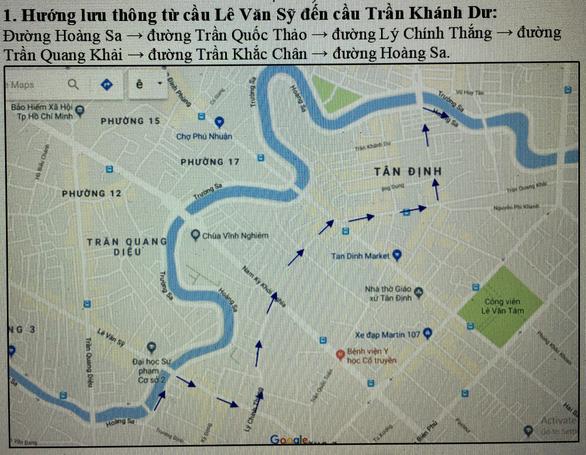 TP.HCM hạn chế xe cộ ra vào đường Trường Sa, Hoàng Sa ngày 21-12 - Ảnh 1.