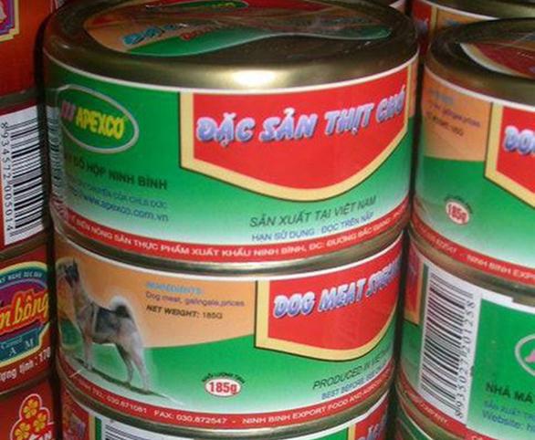 Thịt chó đóng hộp sản xuất ở Ninh Bình? - Ảnh 1.