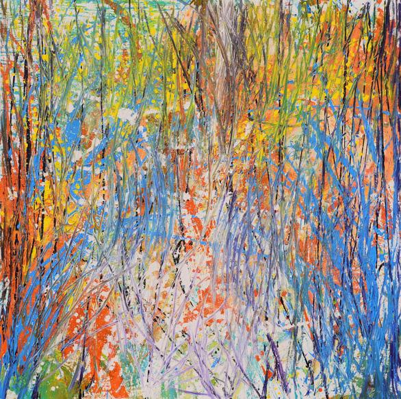 Xèo Chu - Thần đồng hội họa Việt được ví như danh họa Pollock - Ảnh 5.