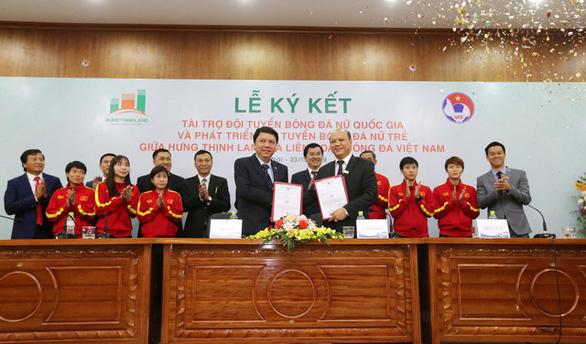 Hưng Thịnh Land tài trợ cho bóng đá nữ Việt Nam 100 tỉ đồng - Ảnh 1.