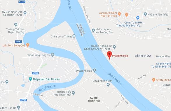 Xe đang trên phà ngang sông Đồng Nai rồ ga xuống sông, 1 người chết - Ảnh 2.