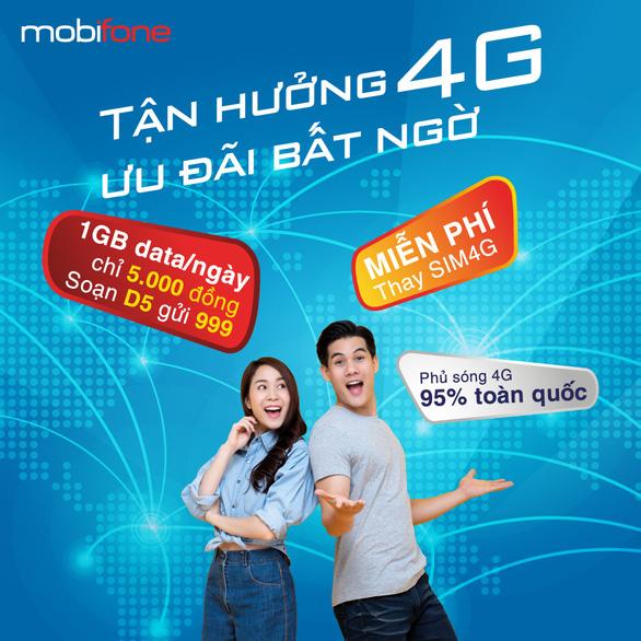 Nâng cấp điện thoại di động 4G giá hời cùng gói cước data siêu rẻ - Ảnh 1.