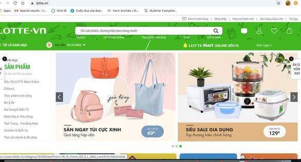Lotte.vn đóng cửa, chuyển mảng thương mại điện tử về Lotte Mart - Ảnh 1.