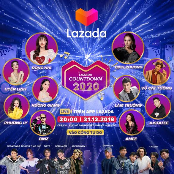 Đại Nhạc Hội Lazada Countdown 2020 – Sự kiện lớn dịp Tết Dương lịch - Ảnh 1.