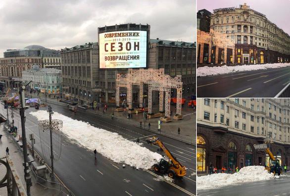Thèm tuyết cho năm mới, thủ đô nước Nga vất vả chở mùa đông từ nơi khác về - Ảnh 1.