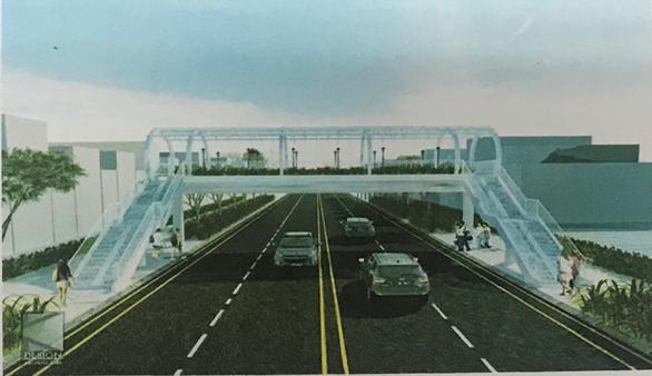 TP.HCM xây thêm cầu vượt bộ hành tại công viên Hoàng Văn Thụ - Ảnh 1.