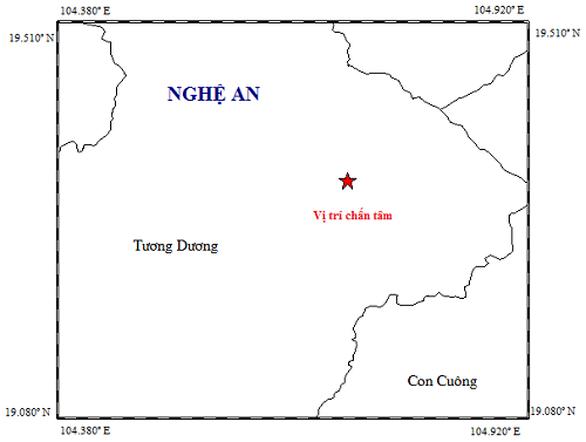 Xảy ra động đất 2,7 độ Richter tại Nghệ An - Ảnh 1.