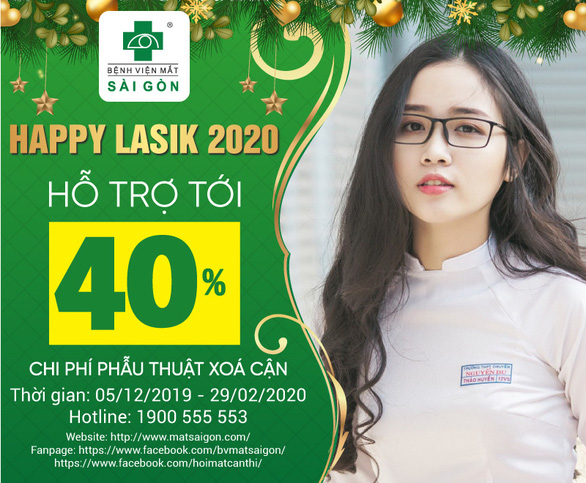 Happy Lasik 2020 - hỗ trợ lên đến 40% chi phí phẫu thuật tật khúc xạ - Ảnh 1.