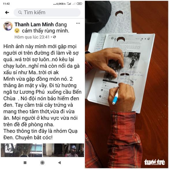 Hắc diện nhân cầm trứng, thớt xuất hiện ở Tiền Giang bắt cóc trẻ em? - Ảnh 1.