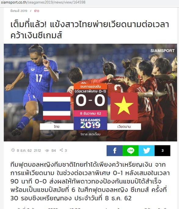 Báo Thái Lan: Đau quá! Chúng ta chỉ được huy chương bạc - Ảnh 1.