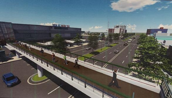 TP.HCM xây cầu đi bộ ở bến xe miền Tây - Ảnh 1.