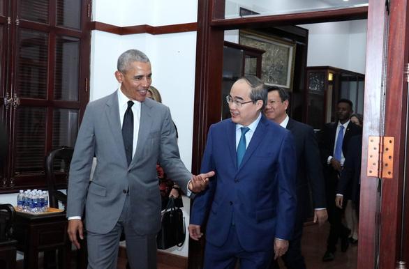 Bí thư Thành ủy Nguyễn Thiện Nhân tiếp xã giao cựu Tổng thống Mỹ Obama - Ảnh 2.