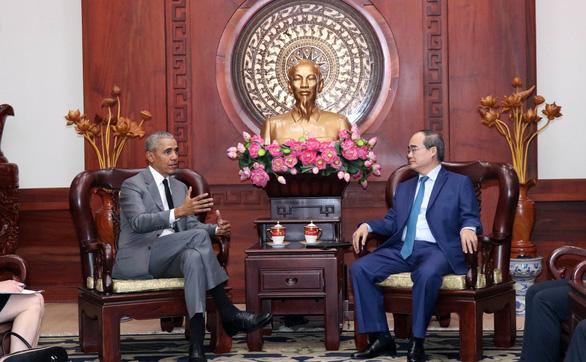 Bí thư Thành ủy Nguyễn Thiện Nhân tiếp xã giao cựu Tổng thống Mỹ Obama - Ảnh 3.