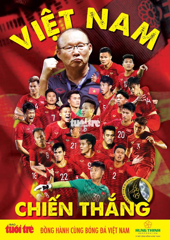 Tuổi Trẻ tặng bạn đọc poster cổ vũ đội U22 và poster chúc mừng tuyển nữ Việt Nam - Ảnh 1.