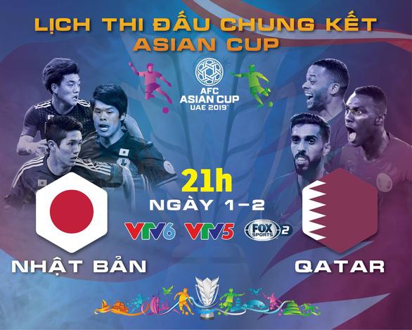Lịch thi đấu chung kết Asian Cup 2019: Nhật Bản quyết đấu Qatar - Ảnh 1.