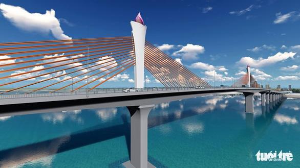 Khởi công cầu Cửa Hội bắc qua sông Lam nối Nghệ An với Hà Tĩnh - Ảnh 1.