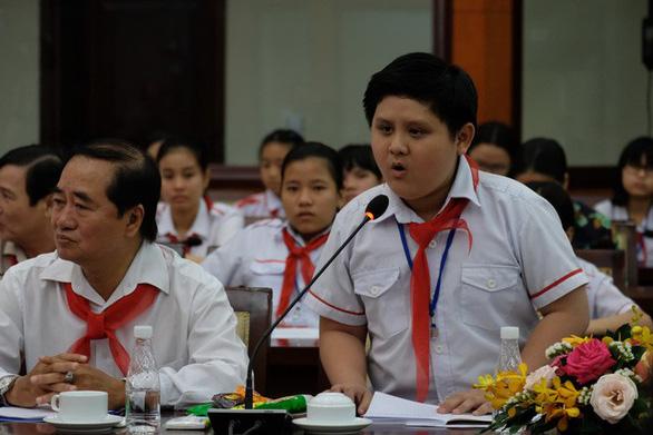 Thiếu nhi nói chuyện về môi trường với lãnh đạo TP.HCM - Ảnh 3.