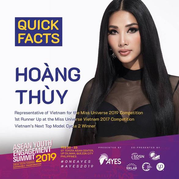 Hoàng Thùy làm diễn giả tại Hội nghị Liên kết thanh niên Đông Nam Á - Ảnh 1.