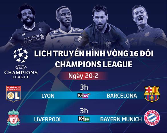 Lịch truyền hình Champions League ngày 20-2: Liverpool đại chiến B.M - Ảnh 1.