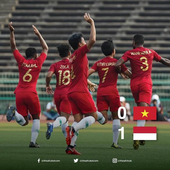 CĐV Indonesia nổ vang trời sau trận thắng tuyển U22 Việt Nam - Ảnh 1.