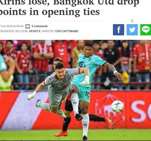 Báo Thái Lan chấm Văn Lâm điểm cao nhất ở đội Muangthong United - Ảnh 2.