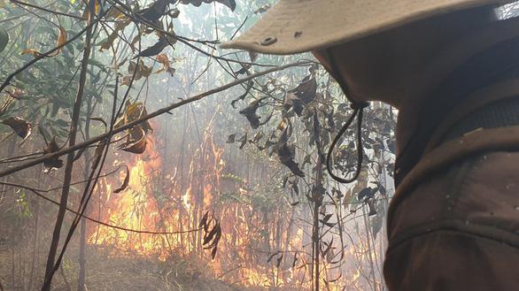 Huy động hơn 100 người chữa cháy rừng - Ảnh 1.