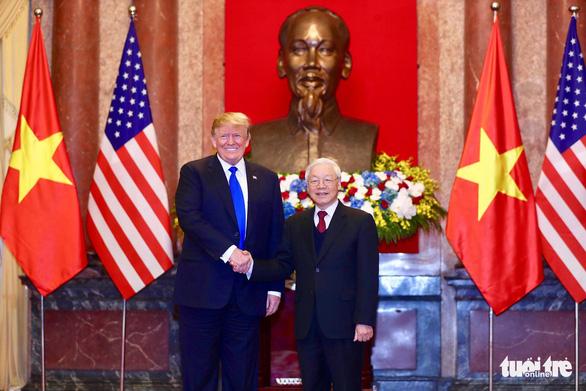 Tổng bí thư, Chủ tịch nước Nguyễn Phú Trọng tiếp Tổng thống Trump - Ảnh 1.