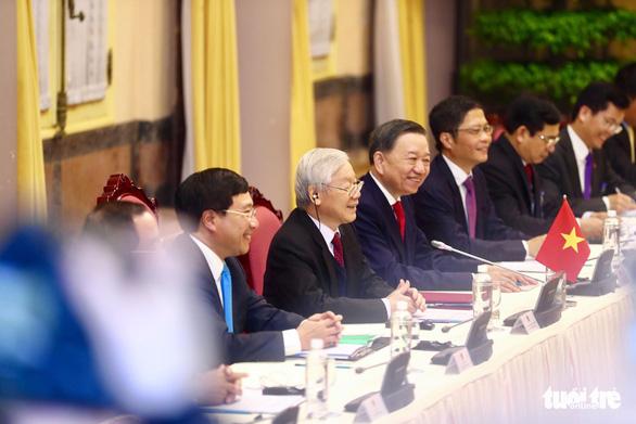 Tổng bí thư, Chủ tịch nước Nguyễn Phú Trọng tiếp Tổng thống Trump - Ảnh 6.