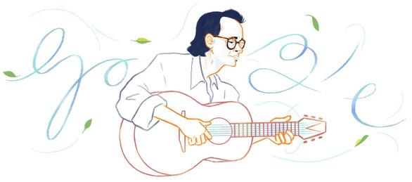 Google vinh danh nhạc sĩ Trịnh Công Sơn với biểu tượng Doodle - Ảnh 1.