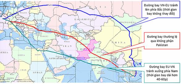 Vietnam Airlines tránh không phận Pakistan thế nào? - Ảnh 1.